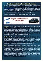 Key Steps for Getting Airport Shuttle Services