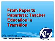 April | 2011 | IATEFL Brighton | From paper to paperless - Teacher Education in Transition