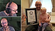 Guinness World Records | Twitch Horror Gamer Breaks World Record for Most Viewed Clip After Daughter Startles Him