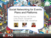 BEFORE: Best Practices: Social Networking For Events Part 2 of 3: Plans and Platforms