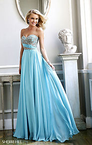 Beaded Aqua Sweetheart-Neck Sherri Hill 3914 Long Bodice Prom Dresses 2015 [Sherri Hill 3914 Aqua] - $179.00 : www.dr...