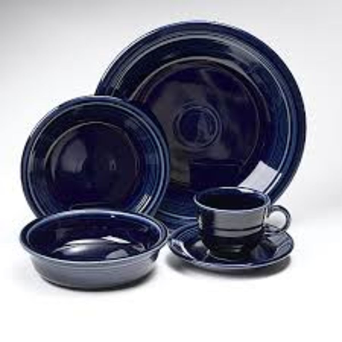 Headline for Fiestaware Cobalt Plates for Dessert, Dinner, and Salad Place Settings