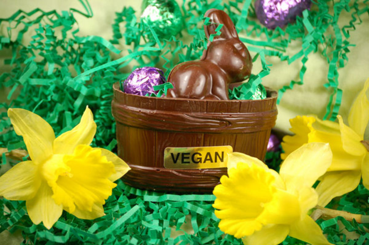 Headline for Happy Bunny: 10 Delicious Vegan Easter Candy Recipes.
