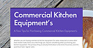 Commercial Kitchen Equipment's