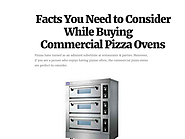 Facts You Need to Consider While Buying Commercial Pizza Ovens