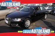 Luxurious black 2014 Audi A4 2.0T Premium for sale at Autoland in Springfield, NJ.
