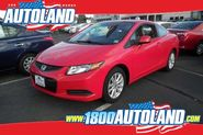 Used vibrant red 2012 Honda Civic EX for sale at Autoland in Springfield, NJ.
