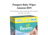 Pampers Baby Wipes Amazon 2015