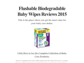 Flushable Biodegradable Baby Wipes Reviews 2015