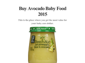 Buy Avocado Baby Food 2015