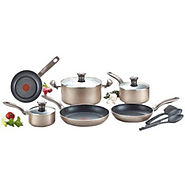 T-fal Metallic Bronze 12 Piece Cookware Set - Kitchen Things