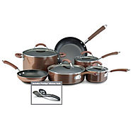 Bronze Nonstick Aluminum 12-Piece Cookware Set - Kitchen Things