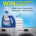 Free Purex Powershot Detergent, HE Washer/Dryer & $1 off Coupon
