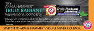 Get Free sample of Arm & Hammer Truly Radiant Toothpaste