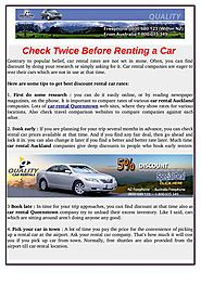 Look at Two Times Previous to Renting a Car