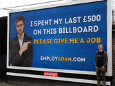 'Please give me a job': Unemployed graduate spends last £500 on billboard begging for people to 'EmployAdam'