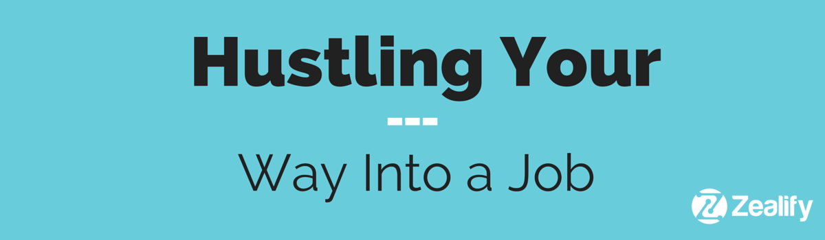 Headline for Hustling your way to a job