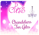 Cute Chandeliers For Girls Room - Pink To Crystal