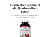 Healthy Heart supplement with Hawthorne Berry Extract