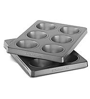 KitchenAid Professional-Grade Nonstick 6-Cavity Regular Sized Muffin Pan Set of 2
