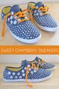 iLoveToCreate Blog: Sweet Chambray Sneakers Tutorial