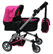 Mommy & Me Babyboo Doll Pram with Swiveling Wheels