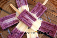 Blueberry Vanilla Yogurt Ice Pop Popsicles