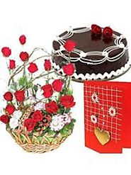 Send Combo Flower & Cake Gifts Online in India