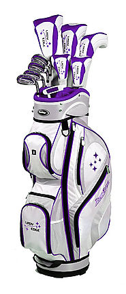 Tour Edge Women's Lady Edge 16-Piece Complete Golf Set With Cart Bag