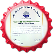 "Hindustan Coca-Cola Beverages Pvt. Ltd. honored with ""Pollution Control Appreciation"" Award 2015"