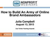 How to Build An Army of Online Brand Ambassadors