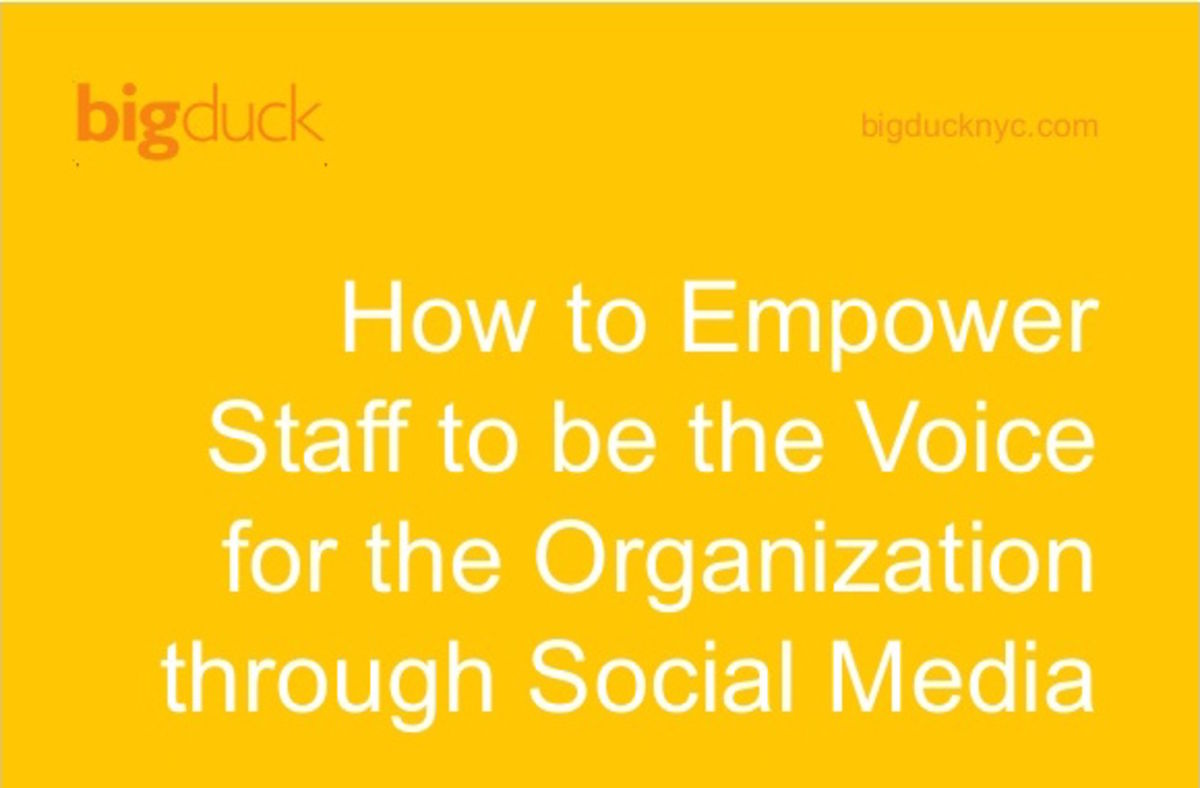 Headline for Empowering Staff to be the Voice for your Nonprofit