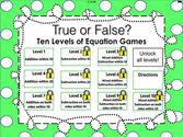 True or False Math Equations