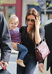 Victoria and Harper Beckham, a fashion duo