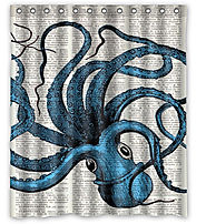NEW Cheap Octopus Kraken Squid Shower Curtains For The Bathroom With Images Showercurtain