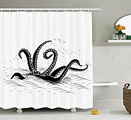 Best Fun - Octopus Shower Curtain for the Bathroom