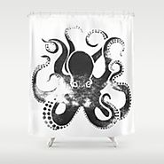 Best Black and White Octopus Shower Curtain - Fabric Shower Curtains - Ratings and Reviews
