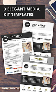 5 Punchy Easy-To-Edit Media Kit Templates For Bloggers