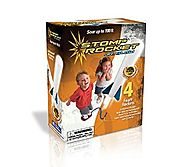 The Original Stomp Rocket: Jr. Glow in the Dark 4-Rocket Kit - Age 3 and up