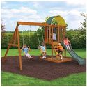 Ready to Assemble Wooden Swing Set. Cedar Wood Swingset, Climbing Wall and Sand Box. Wood Swing Set SALE !!!! 2 Swing...