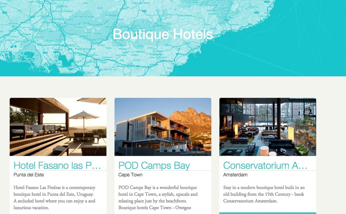 Headline for Amazing boutique hotels and breathtaking design hotels