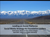 Leadership on Social Media Platforms