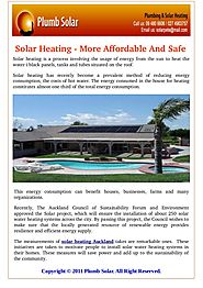 Why Solar Heating is Inexpensive And Secure?