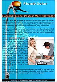 More Information of Licensed Plumbers Possess