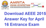Download AEEE 2015 Answer Key for April 16 Entrance Exam Date - All Exam News|Results|Exam Results|Recruitment 2015