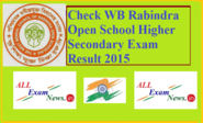 WB Rabindra Open School Higher Secondary Exam Result 2015 WBCR - All Exam News|Results|Exam Results|Recruitment 2015