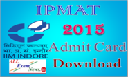 IPMAT Exam Admit Card 2015 IIM IPMAT indoor iimidr.ac.in - All Exam News|Results|Exam Results|Recruitment 2015