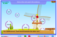 Verb Bubble Trouble Game for Grade 3 | Turtlediary.com