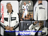 Vin Diesel Fast And Furious 7 Premiere black and white Jacket
