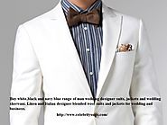 Man White Wedding Suit